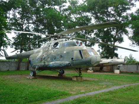 War-Museum-Cambodia-Helicopter-Mil-Mi-8-jet-fighter-aircraft-MiG-19