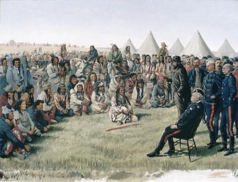 the-surrender-of-poundmaker-to-major-general-middleton-at-battleford-saskatchewan-26-may-1885
